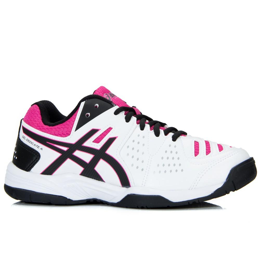 fe6222ab1a Tênis Asics Gel Dedicate 4 A Branco Pink