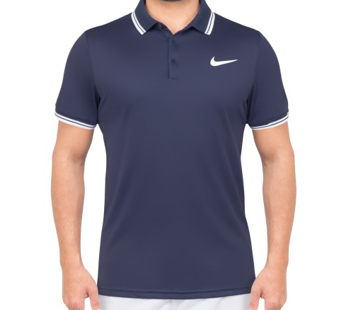 079920837 Camisa Polo Nike Court Dry Solid Marinho