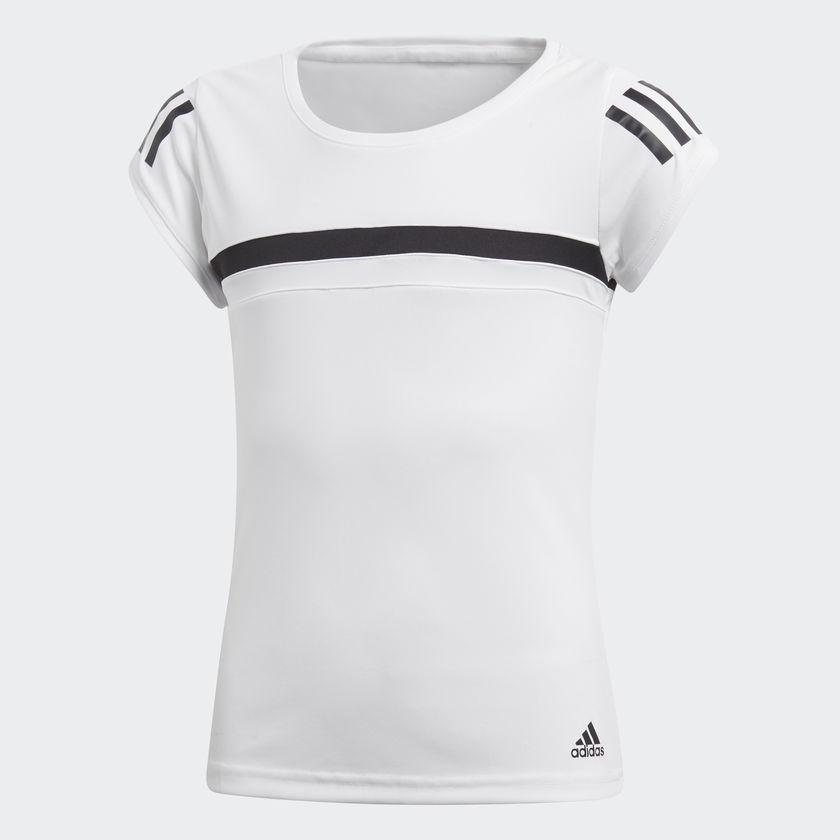Camiseta Adidas Club TEE Fem Infantil Branco d32de55e222fa
