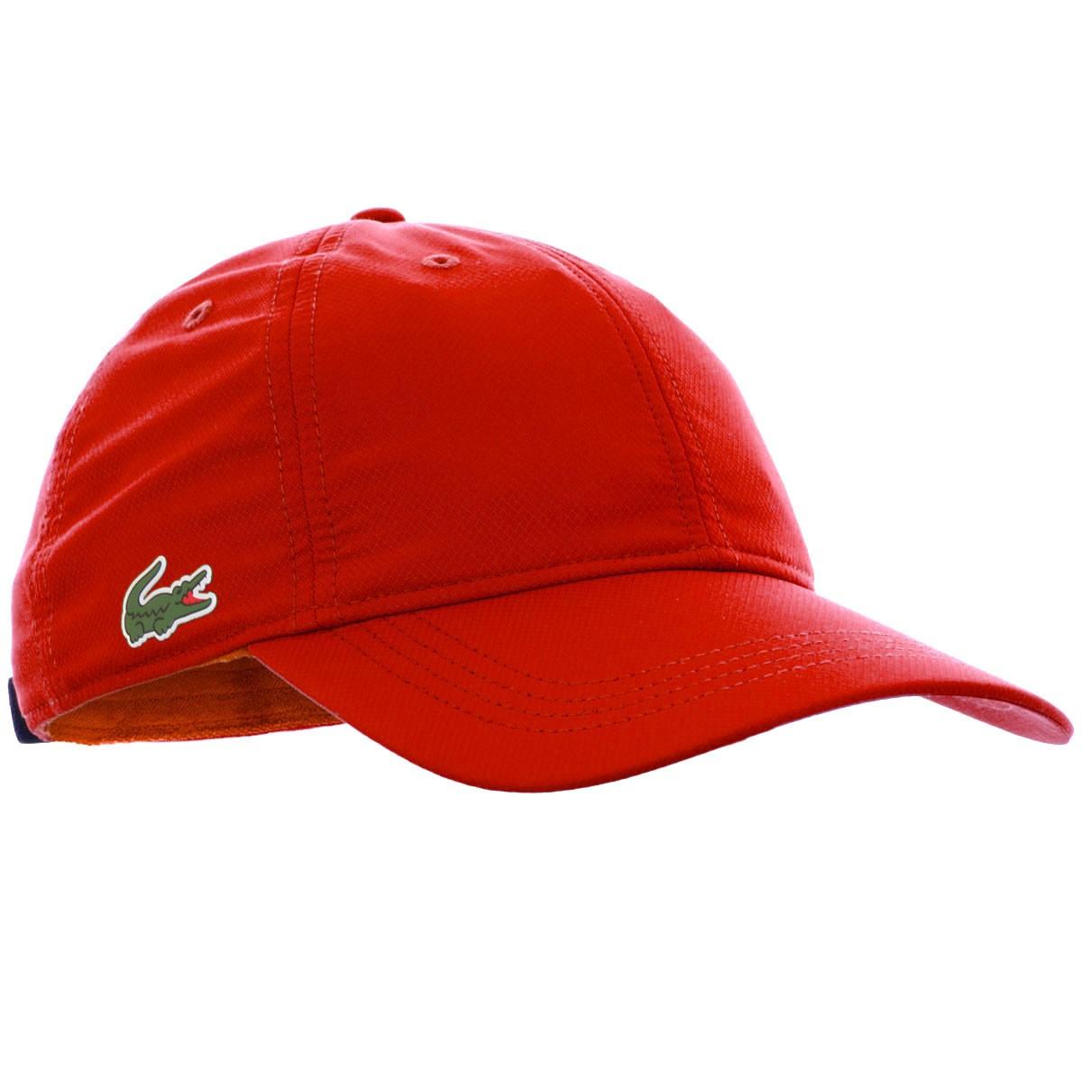 6faf26de45535 Boné Lacoste RK 2447 Vermelho, Vivano Sports - A loja do tenista