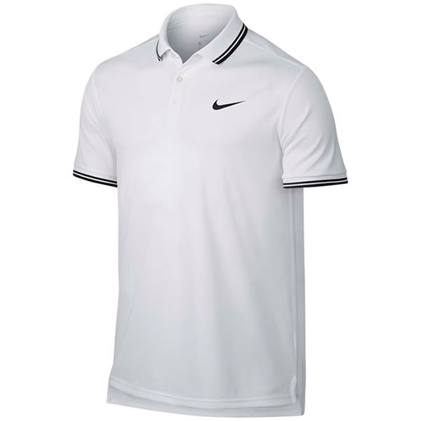 a05cec956 Camisa Polo Nike Court Dry Solid Branco